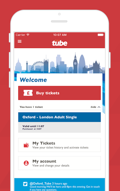 Corethree Builds First Mobile Ticket for Stagecoach's Oxford Tube