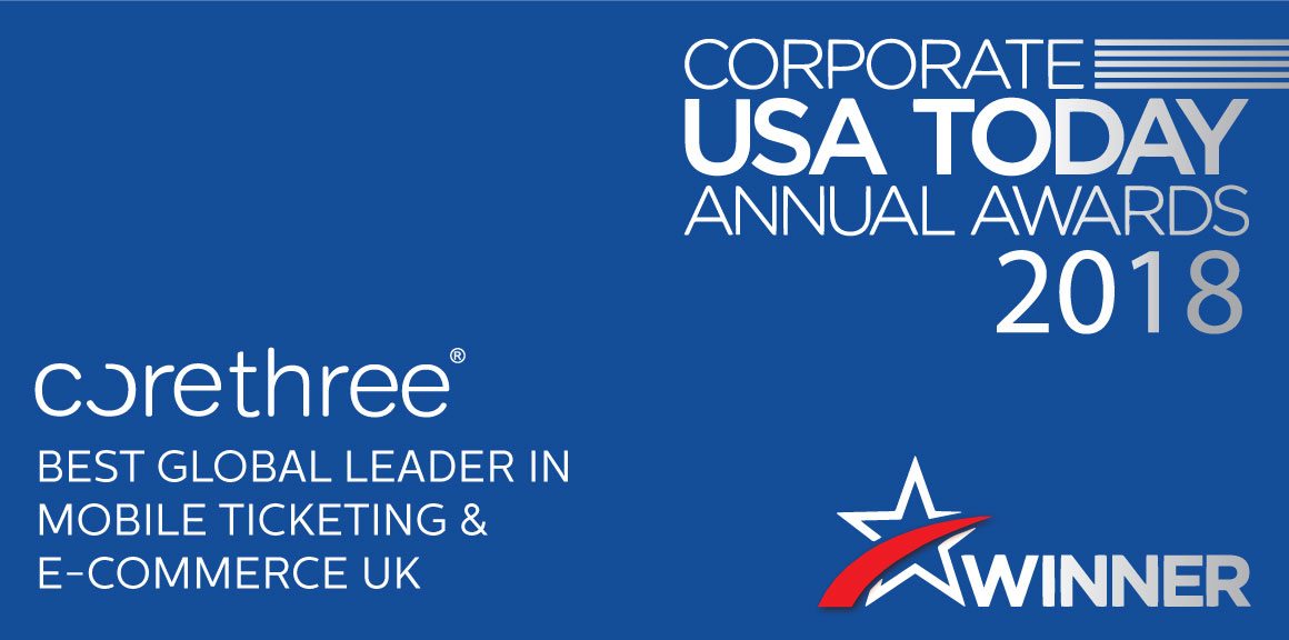 Corethree wins Corporate USA Today Award 2018